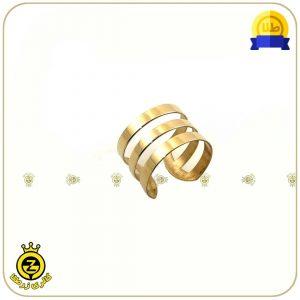 انگشتر طلا فری سایز سه دور طرح دایره