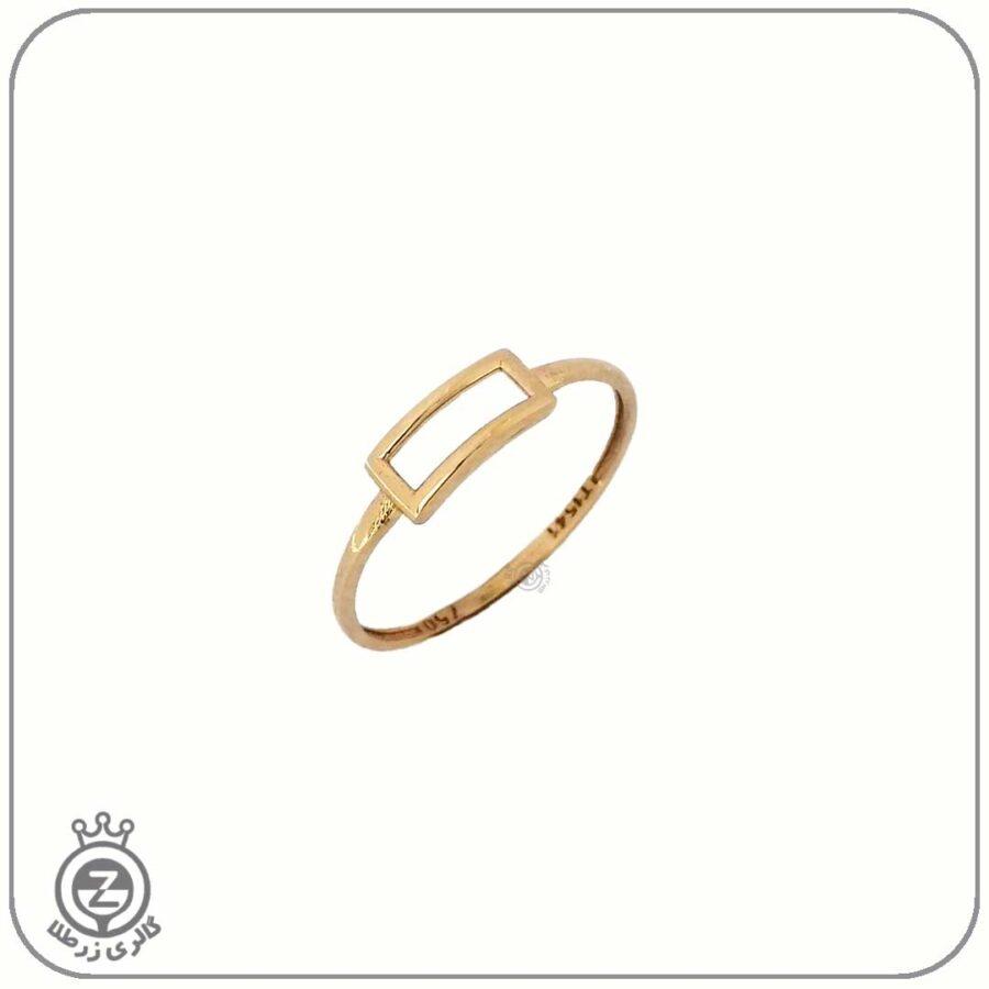 انگشتر طلا زنانه طرح هندسی 1