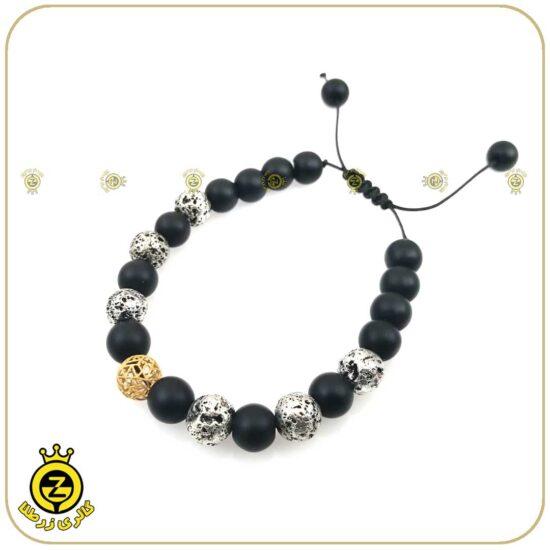 دستبند طلا سنگی مردانه فیوژن 2