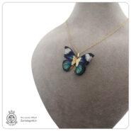 گردنبند طلا طرح پروانه 1