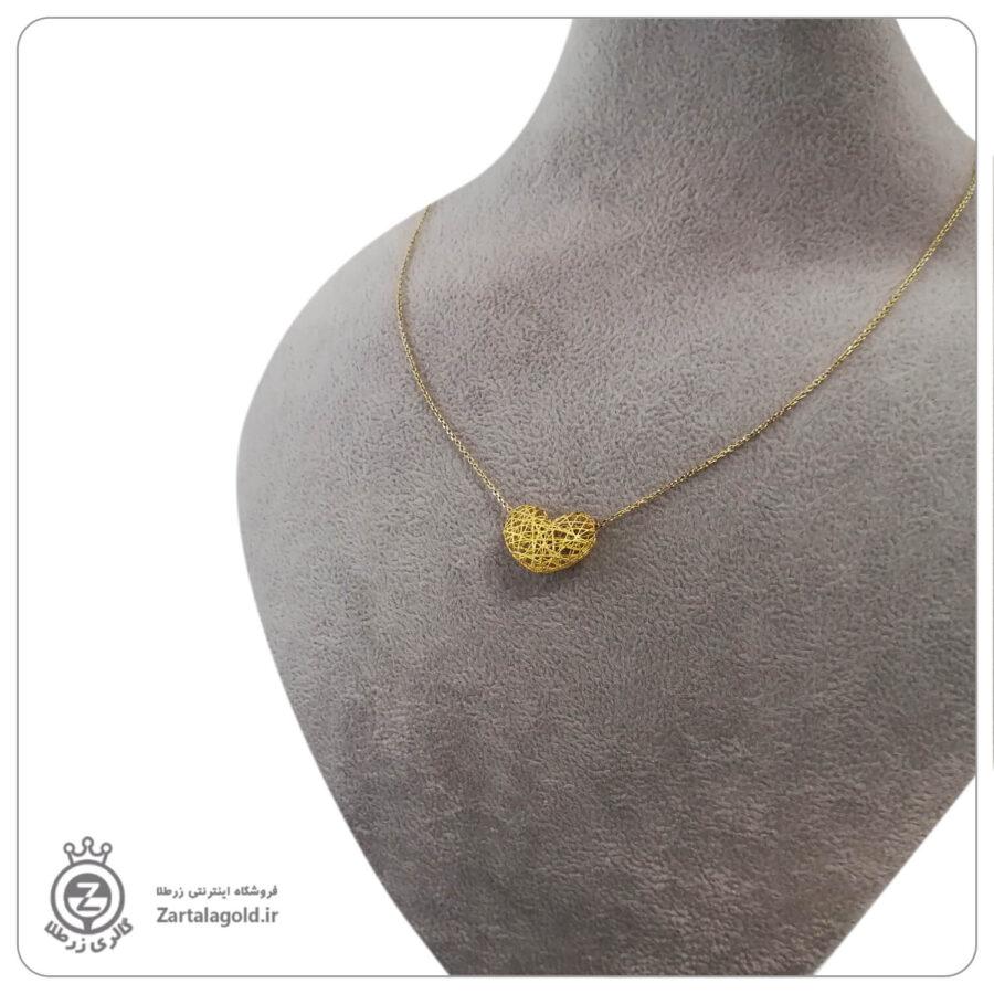 گردنبند طلا طرح قلب فیوژن