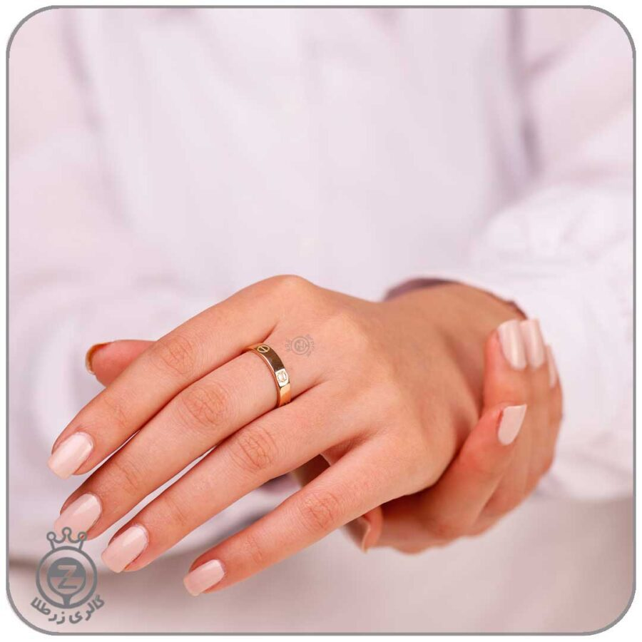 انگشتر حلقه طلا لانه زنبوری
