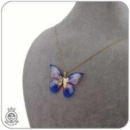 گردنبند طلا طرح پروانه 52