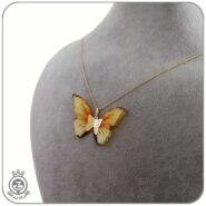 گردنبند طلا طرح پروانه 53